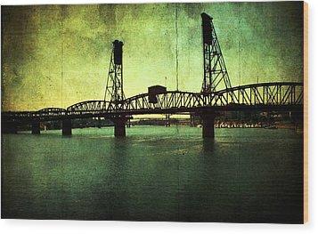 Hawthorne Bridge Wood Print by Cathie Tyler