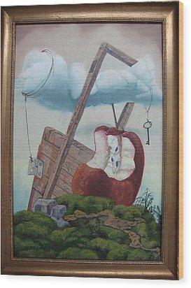 Hay Puertas Que No Se Cierran Wood Print by Carlos Rodriguez Yorde
