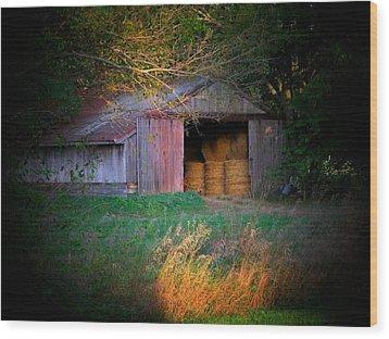 Hayroll Barn Wood Print