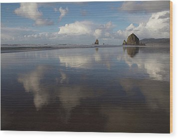 Haystack Needles Horizon Fc Wood Print