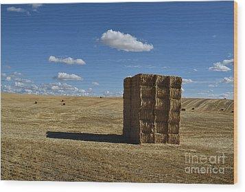 Haystack Off Hwy 2 Wood Print