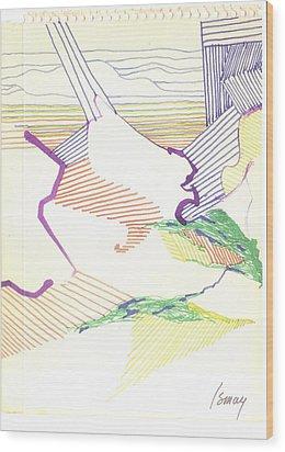 Haystack Wood Print by Rod Ismay