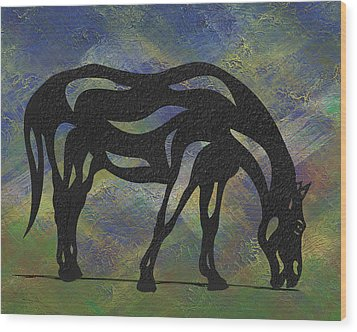 Hazel - Abstract Horse Wood Print by Manuel Sueess
