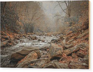 Hazy Mountain Stream #2 Wood Print