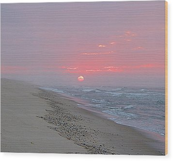 Wood Print featuring the photograph Hazy Sunrise by  Newwwman
