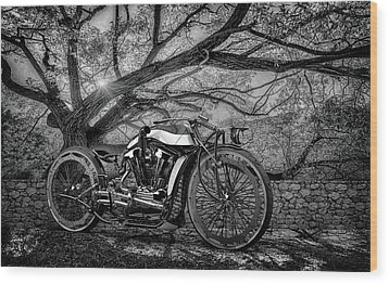Wood Print featuring the photograph Hd Cafe Racer  by Louis Ferreira
