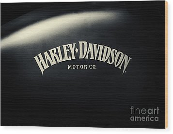 Hd Iron 883 Gas Tank Wood Print by Tim Gainey