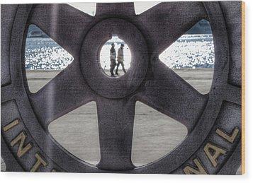 Hdr Beach Wood Print by Andrea Barbieri