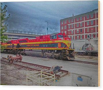 Hdr Fun With Trains Wood Print by Dustin Soph