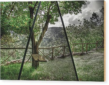 Hdr Swing Wood Print