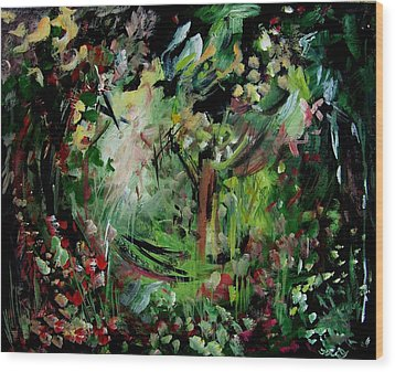 He Lights Our Path Wood Print by Ellen Seymour