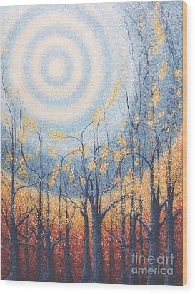 Wood Print featuring the painting He Lights The Way In The Darkness by Holly Carmichael