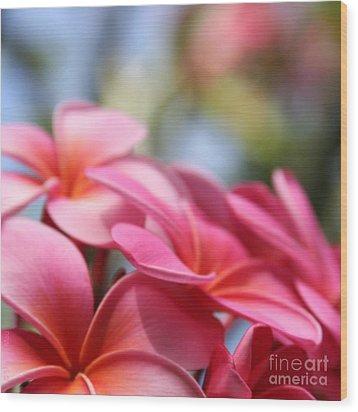 He Pua Lahaole Ulu Wehi Aloha Wood Print by Sharon Mau