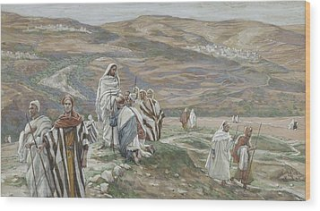 He Sent Them Out Two By Two Wood Print by Tissot