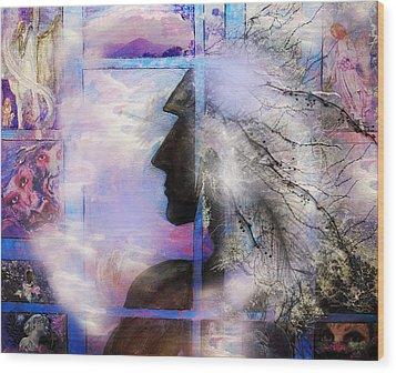 He Waits II Wood Print by Patricia Motley