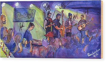 Wood Print featuring the painting Head For The Hills At Barkley Ballroom by David Sockrider