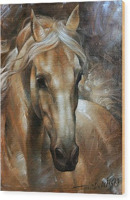Head Horse 2 Wood Print by Arthur Braginsky