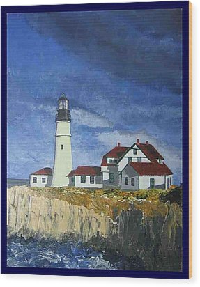 Head Lighthouse  Wood Print