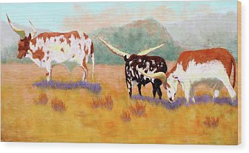 Headed For The Barn Wood Print by Nancy Jolley