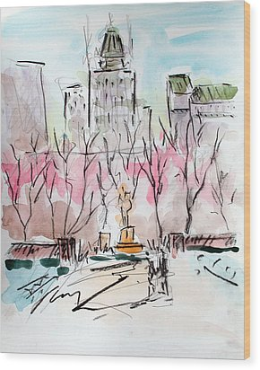 Heading Back To The Plaza Wood Print by Chris Coyne