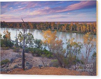 Heading Cliffs Murray River South Australia Wood Print