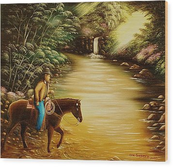 Wood Print featuring the painting Heading Home by Gene Gregory