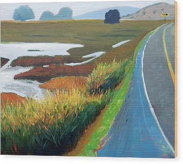 Wood Print featuring the painting Heading North by Gary Coleman
