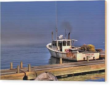 Wood Print featuring the photograph Heading Out To Sea by Greg DeBeck