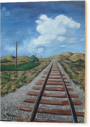 Heading West Wood Print by Laurie Morgan