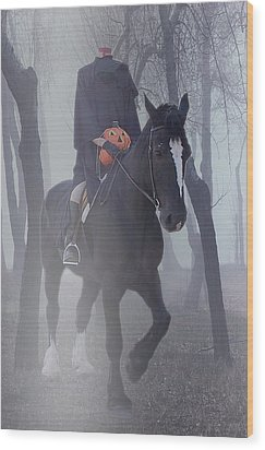 Headless Horseman Wood Print