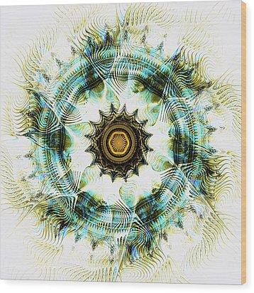 Wood Print featuring the digital art Healing Energy by Anastasiya Malakhova