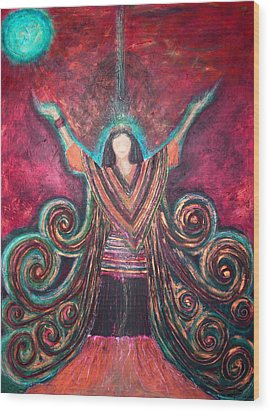 Healing Energy Wood Print by NARI - Mother Earth Spirit
