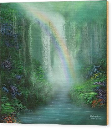 Healing Grotto Wood Print by Carol Cavalaris