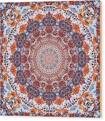 Healing Mandala 2 Wood Print by Bell And Todd