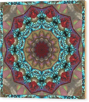 Healing Mandala 35 Wood Print by Bell And Todd