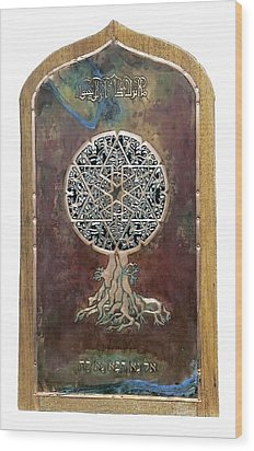 Healing The Tree Of Life Wood Print