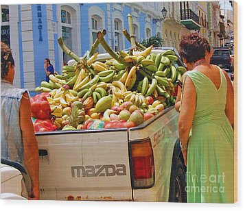 Healthy Fast Food Wood Print by Debbi Granruth