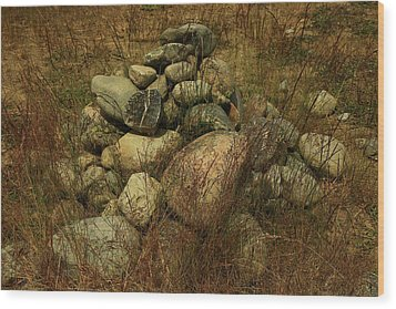 Heap Of Rocks Wood Print by Nareeta Martin