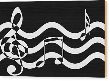 Hear The Music Wood Print by Evelyn Patrick