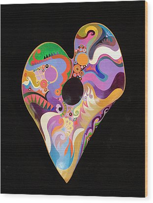 Wood Print featuring the painting Heart Bowl by Bob Coonts