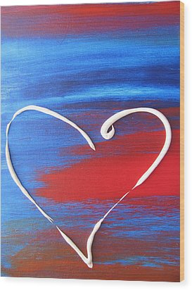 Heart In Motion Wood Print