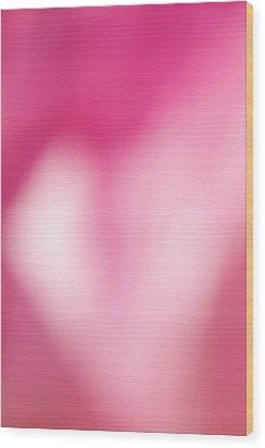 Heart In Pink Wood Print by Jouko Mikkola