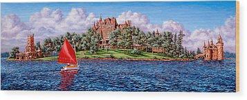 Heart Island Wood Print