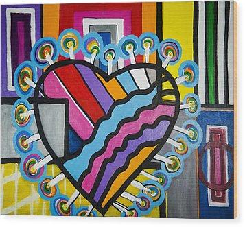 Heart Wood Print by Jose Rojas