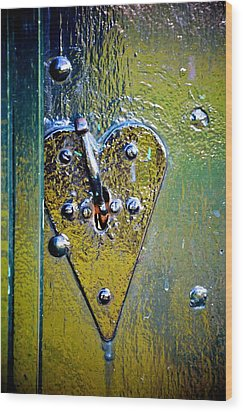 Heart Lock Wood Print