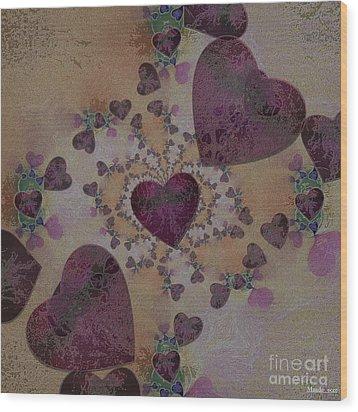 Heart Mix Wood Print