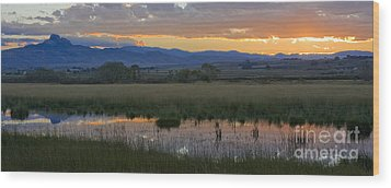Heart Mountain Sunset Wood Print by Idaho Scenic Images Linda Lantzy
