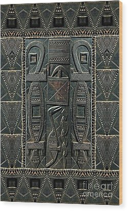 Wood Print featuring the digital art Heart Of Africa by Lora Serra