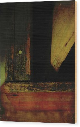 Heart Of Darkness And Light Wood Print by Rebecca Sherman