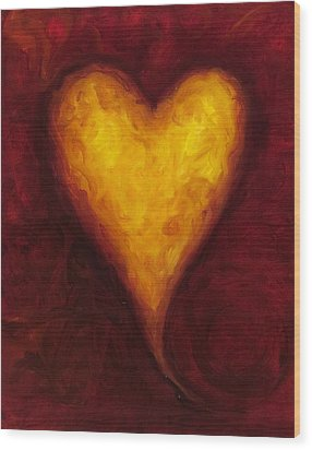 Heart Of Gold 1 Wood Print by Shannon Grissom